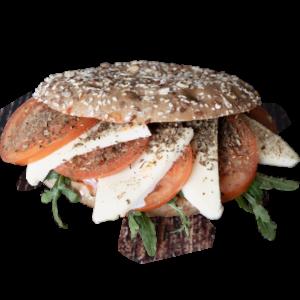 Sandwich mit Tomate Mozarella