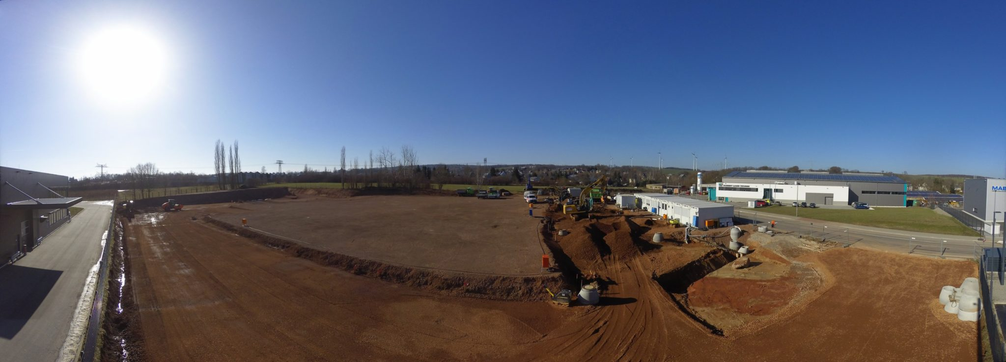 Baufortschritt Ende Februar
