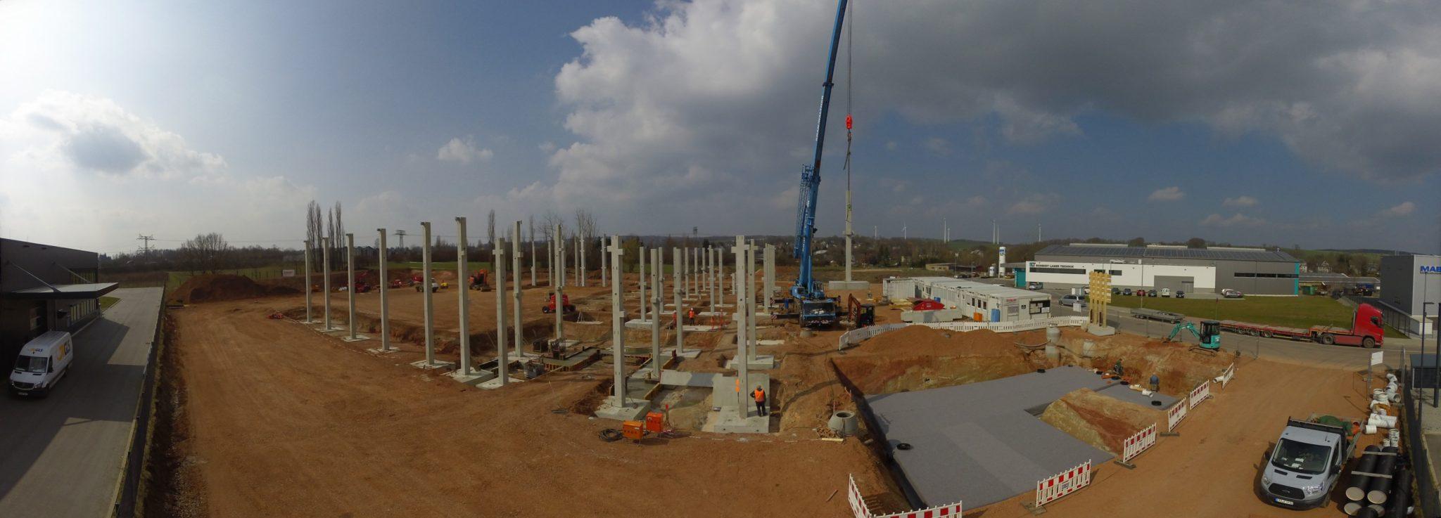 Baufortschritt Ende März