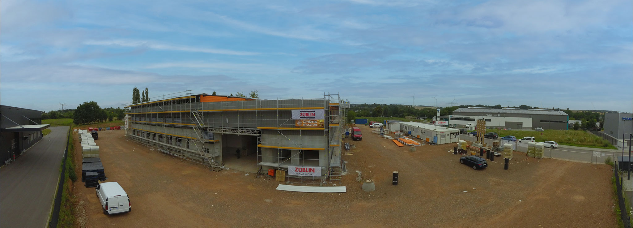 Baufortschritt Neubau Ende Juli 2021